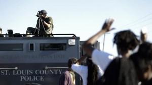 St. Louis Ferguson Protest Police Militarization image