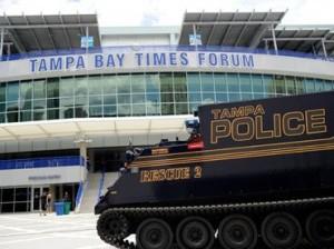 Tampa Police tank